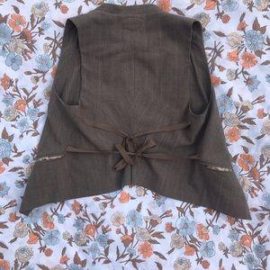 Babakul Jackets & Coats - BABAKUL WOMEN'S VINTAGE pinstriped VEST